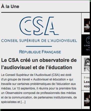 Observatoire audiovisuel et éducation - Extrait