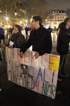 Manifestation pour Ali Mohammed Al Nimr