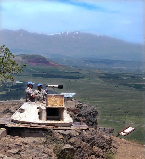 Les forces de l'ONU  - frontière israëlo-syrienne et libanaise