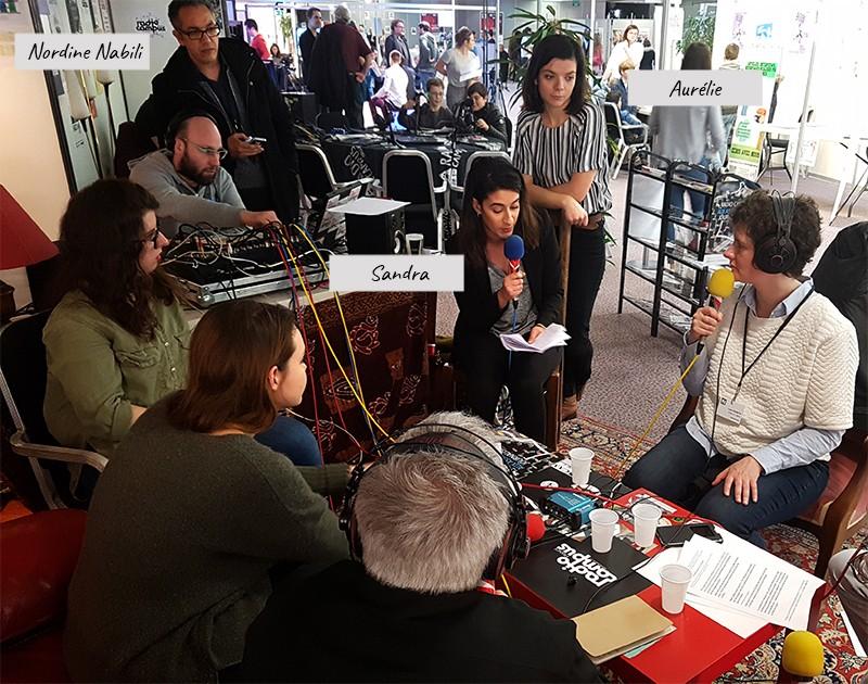 Emissions de radio organisée aux Assises du journalismes de 2018