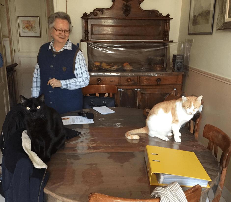 Christine-Théodora Boune et ses chats