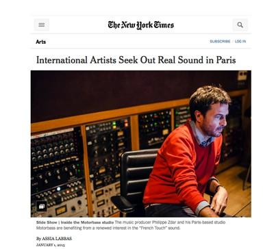 Assias Labbas publie dans le NYT