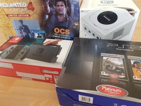 Cartons de consoles de jeux-vidéos